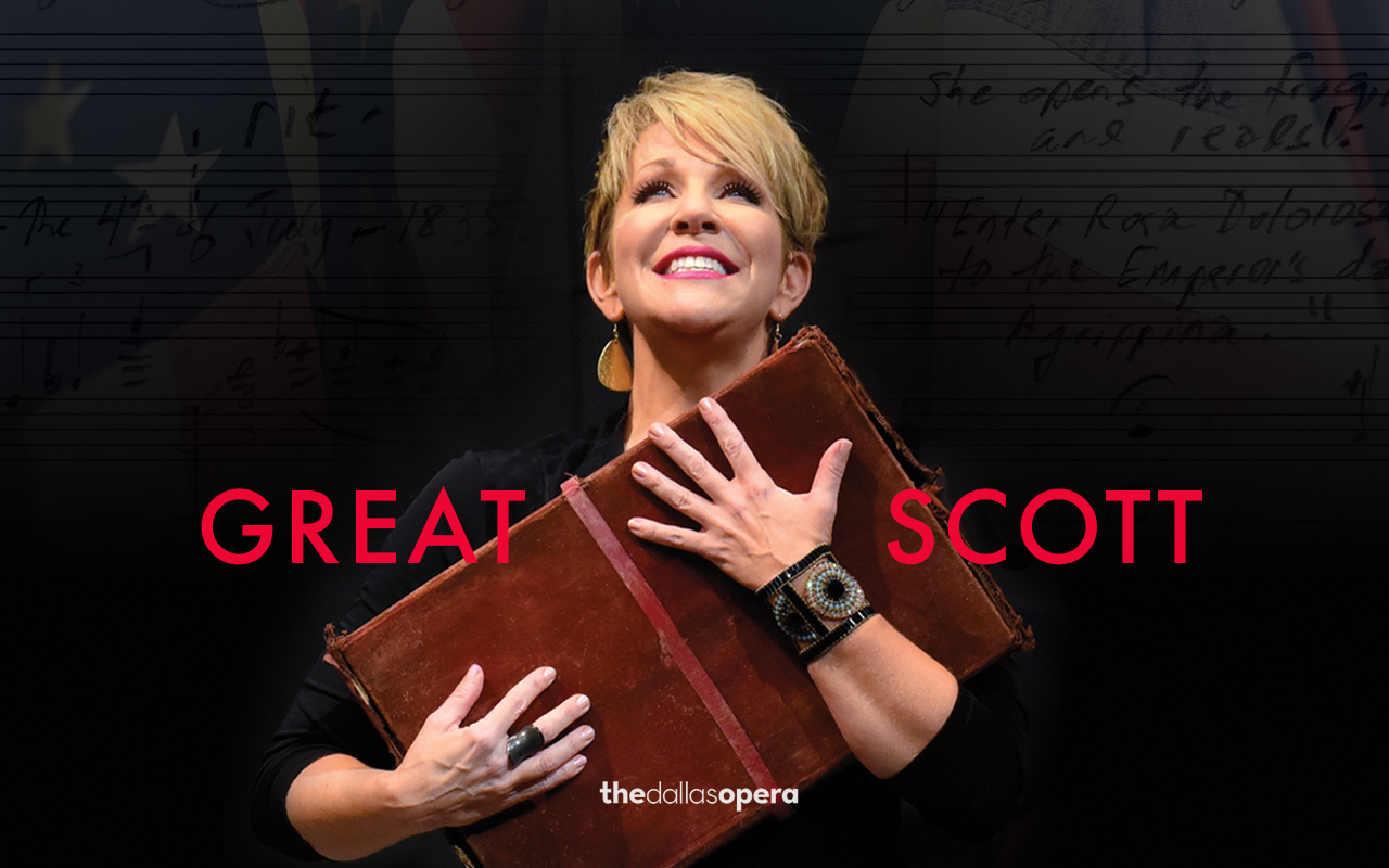 Click here for Jake Heggie and Terrence McNally's Great Scott DVD starring Joyce DiDonato and the Dallas Opera